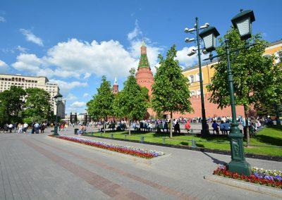 Moscou – Allée centrale du Jardin Alexandre au Kremlin